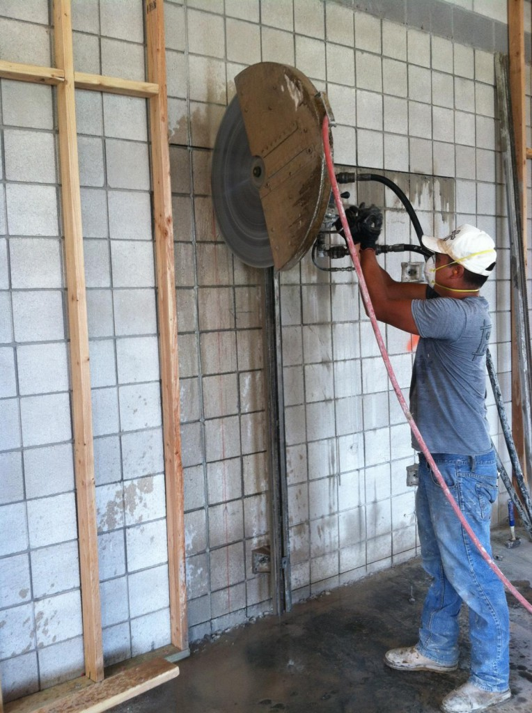 With Concrete Saw Cutting Into Walls : St george utah concrete cutters southern